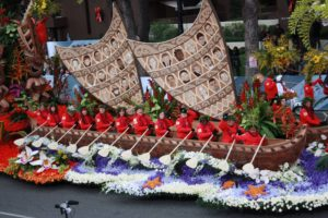 "The 2017 Donate Life Rose Parade float, ""Teammates in Life."""