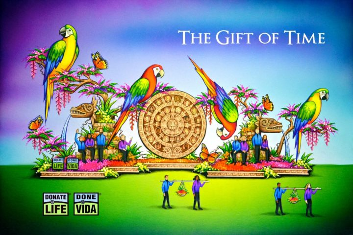 Donate Life Rose Parade Float, Gift of Time