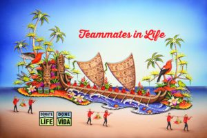 2017 Donate Life Float rendering