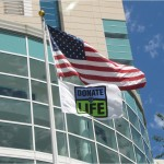 American and Donate Life Flag