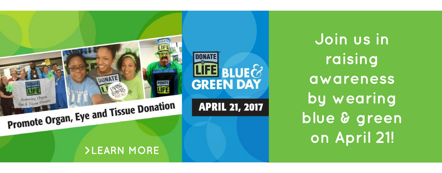 Learn more about national Blue & Green Day on April 21, 2017.