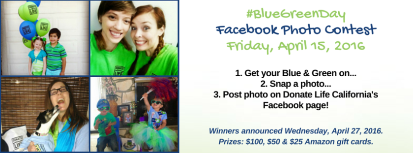 #BlueGreenDay FB Contest- web page header graphics