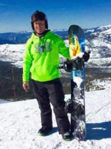 Alan snowboard