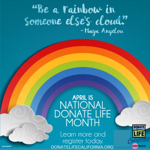 Donate Life Month, Donate Life California